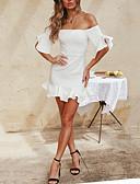 cheap Bikinis-Women's Bodycon Dress - Solid Colored White M L XL