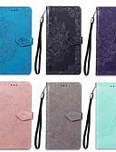זול מגנים לטלפון-מגן עבור Xiaomi הערה 7 ארנק / מחזיק כרטיסים / עם מעמד כיסוי מלא מנדלה קשיח עור PU