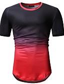 """זול טישרטים לגופיות לגברים-קולור בלוק צווארון עגול האיחוד האירופי / ארה""""ב גודל טישרט - בגדי ריקוד גברים פול L"""