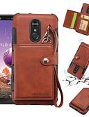 זול מגנים לטלפון-מגן עבור LG LG Q Stylus / LG Stylo 4 ארנק / מחזיק כרטיסים / עמיד בזעזועים כיסוי אחורי אחיד רך עור PU