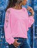 povoljno Majica-Veći konfekcijski brojevi Majica s rukavima Žene Jednobojni Širok kroj, Kolaž Crn