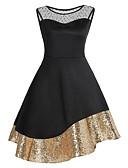 رخيصةأون الأزياء التنكرية التاريخية والقديمة-فستان نسائي كلاسيكي عصري عتيق ترتر طول الركبة لون سادة