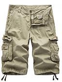 povoljno Muške majice i potkošulje-Muškarci Osnovni Širok kroj Kratke hlače Hlače - Jednobojni Žutomrk Svijetlosiva Navy Plava 34 36 38