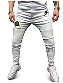 halpa Miesten housut ja shortsit-Miesten Katutyyli Chinos housut Housut - Painettu Valkoinen XL XXL XXXL
