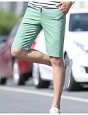 ราคาถูก กางเกงขาสั้น-สำหรับผู้ชาย พื้นฐาน กางเกงขาสั้น กางเกง - สีพื้น สีดำ สีน้ำเงินกรมท่า สีกากี XXXL XXXXL XXXXXL