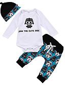 זול אוברולים טריים לתינוקות-סט של בגדים כותנה קצר שרוול ארוך דפוס פעיל בנים תִינוֹק / פעוטות