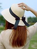 preiswerte Damenhüte-Damen Aktiv Grundlegend nette Art,Stroh Strohhut Sonnenhut Solide Ganzjährig Beige Khaki