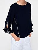 hesapli Kadın Etekleri-Kadın's Gömlek Solid Siyah