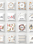 cheap Cover Ups-1 pcs Cotton / Linen Pillow Case, 3D Print Animal Christmas Fashion Christmas