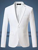 hesapli Erkek Gömlekleri-Erkek Büyük Bedenler Blazer Çentik Yaka Pamuklu / Polyester Sarı / Şarap / Navy Mavi