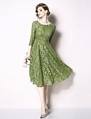 זול שמלות קוקטייל-גזרת A עם תכשיטים באורך  הברך תחרה מסיבת קוקטייל שמלה עם דוגמא \ הדפס על ידי LAN TING Express