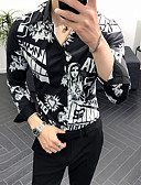 cheap Men's Belt-Men's EU / US Size Shirt - Letter Print Black XL / Long Sleeve