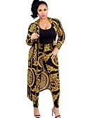 זול חליפות שני חלקים לנשים-מכנס דפוס, פרחוני - סט רזה בגדי ריקוד נשים