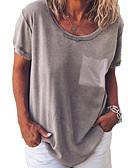 povoljno Majica s rukavima-Majica s rukavima Žene Jednobojni Sive boje