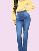 halpa Naisten housut-Naisten Päivittäin Ohut Chinos housut Housut - Yhtenäinen Uima-allas M L XL