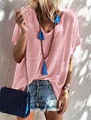 billige T-shirt-V-hals Dame - Ensfarvet T-shirt Dusty Rose Lysegrøn