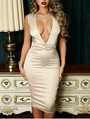 זול שמלות NYE-מידי אחיד - שמלה ישרה וינטאג' אלגנטית בגדי ריקוד נשים
