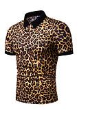 """זול חולצות פולו לגברים-נמר צווארון חולצה האיחוד האירופי / ארה""""ב גודל Polo - בגדי ריקוד גברים לבן"""