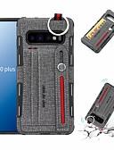 halpa Puhelimen kuoret-Etui Käyttötarkoitus Samsung Galaxy S9 / S9 Plus / S8 Plus Lomapkko / Korttikotelo / Iskunkestävä Takakuori Yhtenäinen Kova PU-nahka / TPU