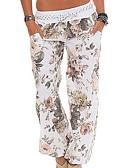 hesapli Kadın Pantolonl-Kadın's Temel Büyük Bedenler Salaş / büzgülü kısa pantalon Pantolon - Çiçekli Doğal Pembe Ordu Yeşili Haki XXXL XXXXL XXXXXL