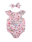 halpa Vauvojen mekot-Vauva Tyttöjen Perus Color Block Hihaton Yksiosaiset Punastuvan vaaleanpunainen