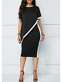 preiswerte Damen Kleider-Damen Bodycon Kleid - Chiffon Midi