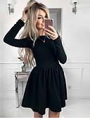hesapli Mini Elbiseler-Kadın's İnce A Şekilli Elbise Diz üstü