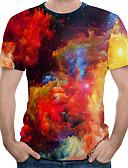 billige T-shirts og undertrøjer til herrer-Herre - Farveblok T-shirt Rød XL
