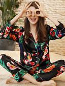 preiswerte Pyjamas-Damen Hemdkragen Anzüge Pyjamas Einfarbig