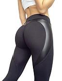 povoljno Odijela-Žene Sportski Legging - Jednobojni, Print Medium Waist Crn M L XL / Slim