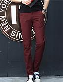 levne Pánské kalhoty a kraťasy-Pánské Základní Kalhoty chinos Kalhoty - Jednobarevné Fialová