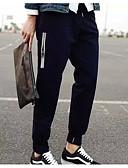 זול מכנסיים ושורטים לגברים-בגדי ריקוד גברים בסיסי Jogger מכנסיים - אחיד כותנה שחור L XL XXL