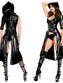 זול זנטאי (חליפות גוף)-בגדי ריקוד נשים נקבה נשים מבוגרים פאנק תחרה שמלות גלימה חליפת ערב צבע אחיד חג ליל כל הקדושים תחתוני גברים חליפת חתול / ספנדקס / דמוי עור