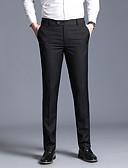 זול מכנסיים ושורטים לגברים-בגדי ריקוד גברים בסיסי רזה חליפות מכנסיים - אחיד קלאסי כחול נייבי אפור יין 34 36 38