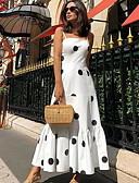 povoljno Ženske haljine-Žene Osnovni A kroj Haljina Na točkice S naramenicama Maxi