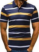 preiswerte Herren Polo Shirts-Herrn Gestreift EU- / US-Größe Polo, Hemdkragen Grün XL