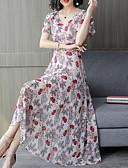 cheap Women's Dresses-2019 New Arrival Dresses Women's Basic Elegant Swing Dress Elbise Vestidos Robe Femme - Geometric Print Red XL XXL XXXL