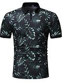 hesapli Kadın Kapşonluları-Erkek Pamuklu Gömlek Yaka Polo Kırk Yama / Desen, Çizgili / Zıt Renkli AB / ABD Beden Yonca