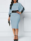 cheap Women's Coats & Trench Coats-Women's Basic Sheath Dress - Solid Colored Purple Light Blue Khaki XXXL XXXXL XXXXXL