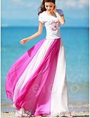 preiswerte Damen Röcke-Damen Grundlegend Schaukel Röcke - Einfarbig