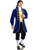 billige Leker og hobbyer-lawer Voksne Herre Cosplay Kostumer Drakter Til Polyester Maskerade Frakk Bukser Korsetter