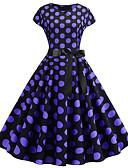 halpa Vintage-kuningatar-Naisten Vintage A-linja Mekko Painettu Polvipituinen