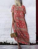 abordables Pantalons Femme-Femme Maxi Tee Shirt Robe Rouge XL XXL XXXL Manches Courtes
