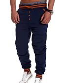お買い得  メンズパンツ&ショーツ-男性用 スポーティー スウェットパンツ パンツ - ソリッド ブラック