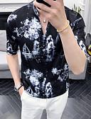 povoljno Muške košulje-Veličina EU / SAD Majica Muškarci Geometrijski oblici Print Obala