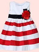זול שמלות לתינוקות-שמלה כותנה מקסי ללא שרוולים דפוס פסים בסיסי בנות תִינוֹק / פעוטות