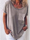 economico Top e completi da donna-T-shirt Per donna Tinta unita Azzurro XL / Primavera / Estate / Autunno / Inverno