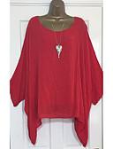 billige Skjorter til damer-Løstsittende Bluse Dame - Ensfarget Hvit