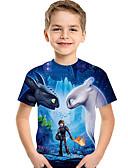povoljno Džemperi i kardigani za dječake-Djeca Dijete koje je tek prohodalo Dječaci Aktivan Osnovni Print Print Kratkih rukava Majica s kratkim rukavima Plava