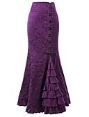 זול שעונים-גיאומטרי - חצאיות מקסי צינור בגדי ריקוד נשים שחור אודם סגול L XL XXL / רזה